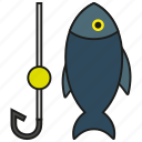 animal, fish, fishing, hook, ocean, sea, tuna icon
