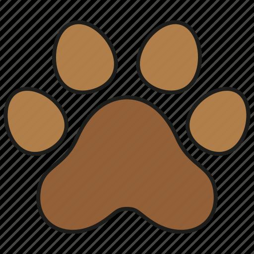 animal, cat, dog, paw, pet, print icon