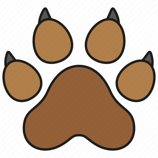 animal, cat, dog, paw, pet, print icon