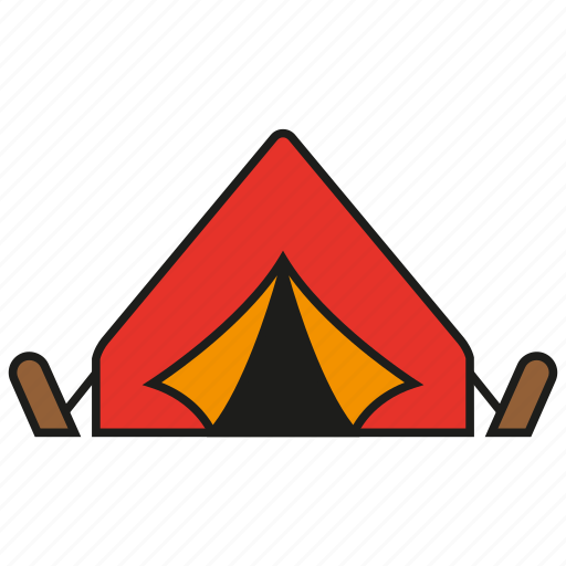 camp, camping, outdoor, tent, travel icon