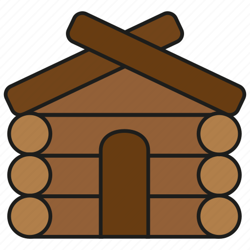 building, home, house, live, tree, wood, wooden icon