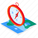 compass, map, location, journey