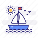yacht, boat, yachting, vessel icon