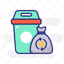 bag, wiping, trash, garbage, bags, recycle, recycled icon