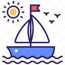 boat, yachting, vessel, yacht icon