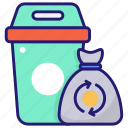 garbage, bags, wiping, trash, recycle, recycled, bag icon