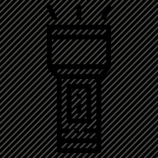 flashlight, light, spotlight, tool, torch icon