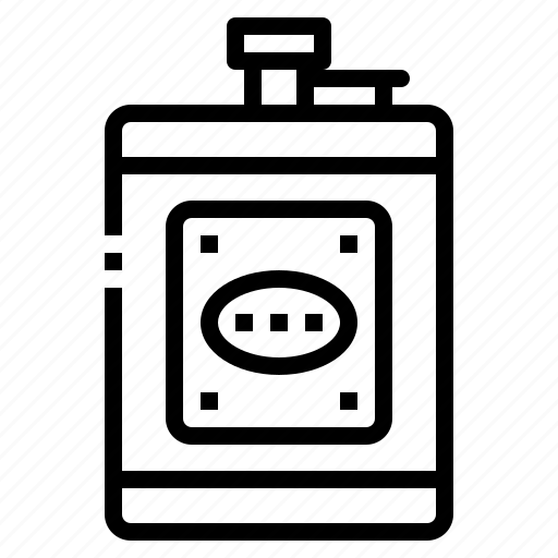 bottle, drink, pocket, rum, whiskey icon