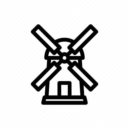 factory, farm, flour, industry, mill, wind, windmill icon