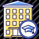 campus, dorm, dormitory, dormitory icon icon