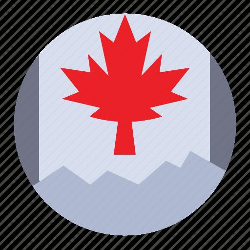 canada, flag, leaf icon