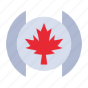 flag, leaf, tree icon
