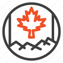 canada, flag, leaf icon
