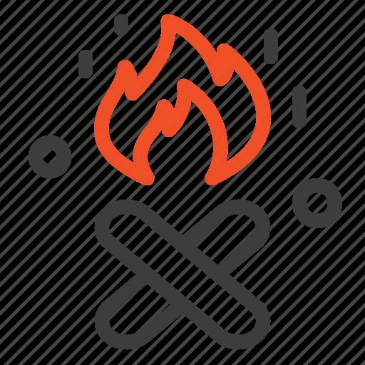 canada, fire, place icon
