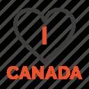 canada, heart, love icon