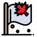 canada, flag, leaf, sign