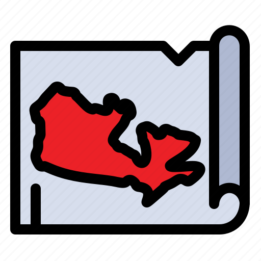 canada, map, world icon