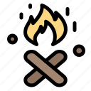 canada, fire, place icon