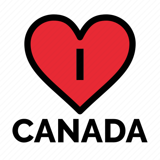 Canada, heart, love icon - Download on Iconfinder