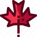 autumn, canada, forest, leaf, leave, maple, plant icon