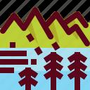 architecture, canada, landmark, landscape, mountian, park, tree