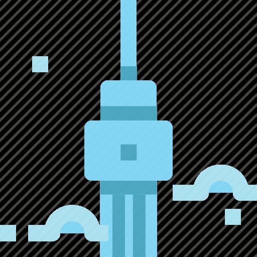 architecture, building, canada, cn, landmark, toronto, tower icon