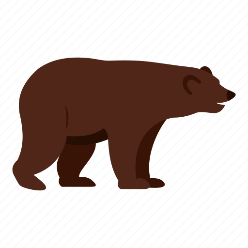 Animal, bear, brown, canada, carnivore, grizzly, mountain icon - Download on Iconfinder