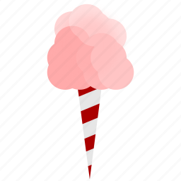 cotton candy, fairs, pink icon