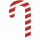 candy, candy cane, red, white, xmas icon