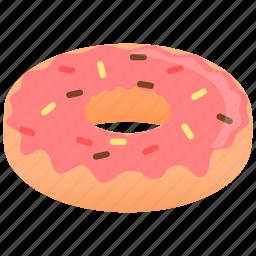 donnut, strawberry icon