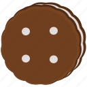 chocolate, cookie, vanilla icon