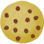 chocolate chips, cookie, home cooking icon