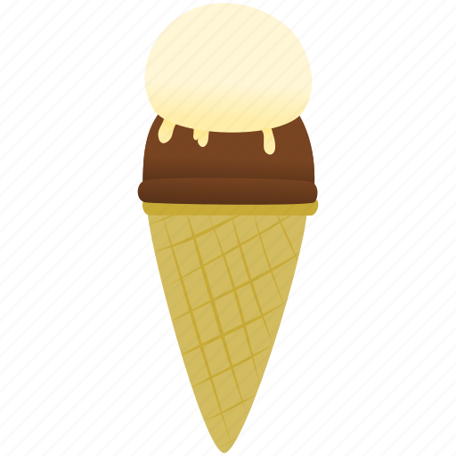 chocolate, ice cream, vanilla icon