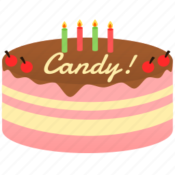 birthday, biscuit, cake, cocoa, pink icon