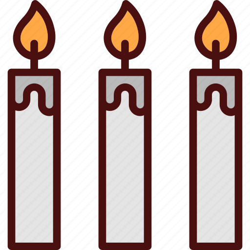 candle, light, wax icon