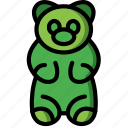 bear, candy shop, gummy, store, sweet shop icon
