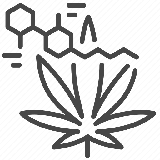 cannabis, chemical, formula, nicotine, research, science, structure icon