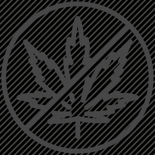 anti, cannabis, illegal, marijuana, not allowed, prohibit, tobacco icon