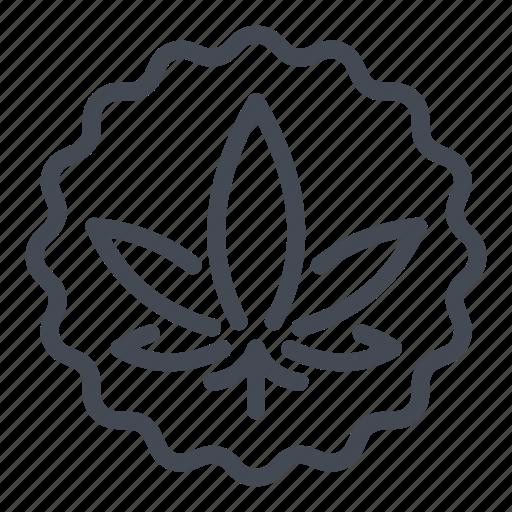 badge, cannabinoids, cannabis, label, marijuana, marijuanas, sticker icon