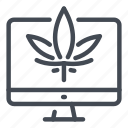 cannabinoids, cannabis, computer, marijuana, marijuanas, online, store icon