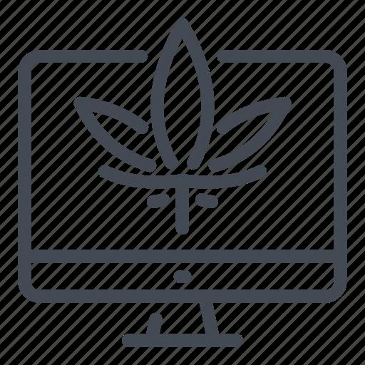 Cannabinoids, cannabis, computer, marijuana, marijuanas, online, store icon - Download on Iconfinder