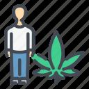 cannabis, marijuana, weed, hemp, man, person, people