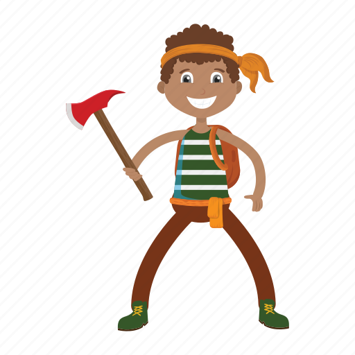 axe, islander, kid, lumberjack, pirate icon