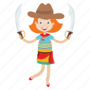 islander, cowgirl, avatar, pirate, knife, kid