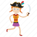 captain, cartoon, character, islander, kid, pirate icon