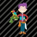 avatar, bird, boy, islander, pirate icon