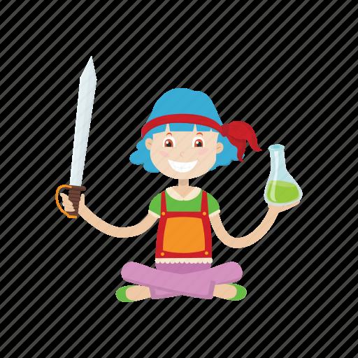 cartoon, islander, knife, marine, pirate icon
