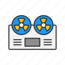 audio recorder, casette, music player, tape player icon