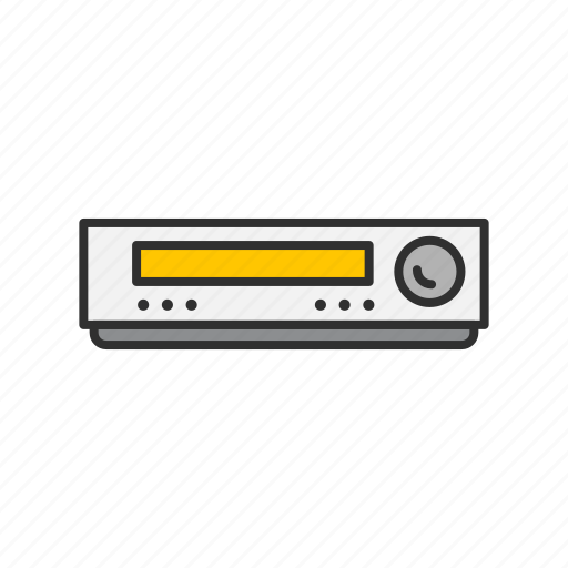 audio receiver, player, radio, video player icon