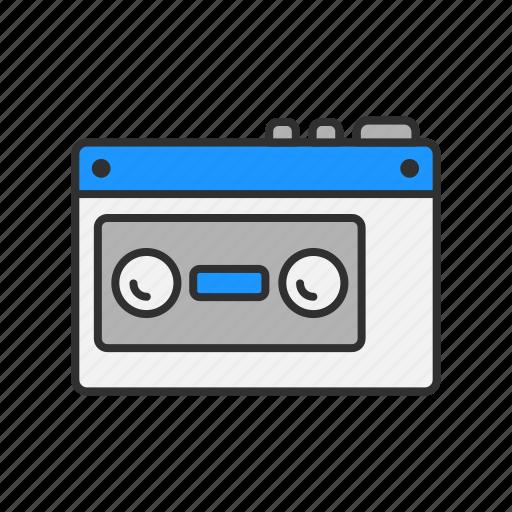 casette, radio, tape, tape player icon
